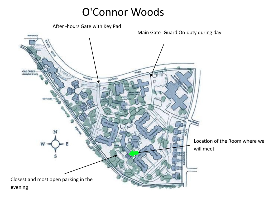 OConnor Woods marking West Hall